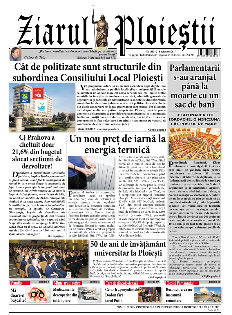 Nr. 1810 • 2-8 noiembrie 2017 • 12 pagini