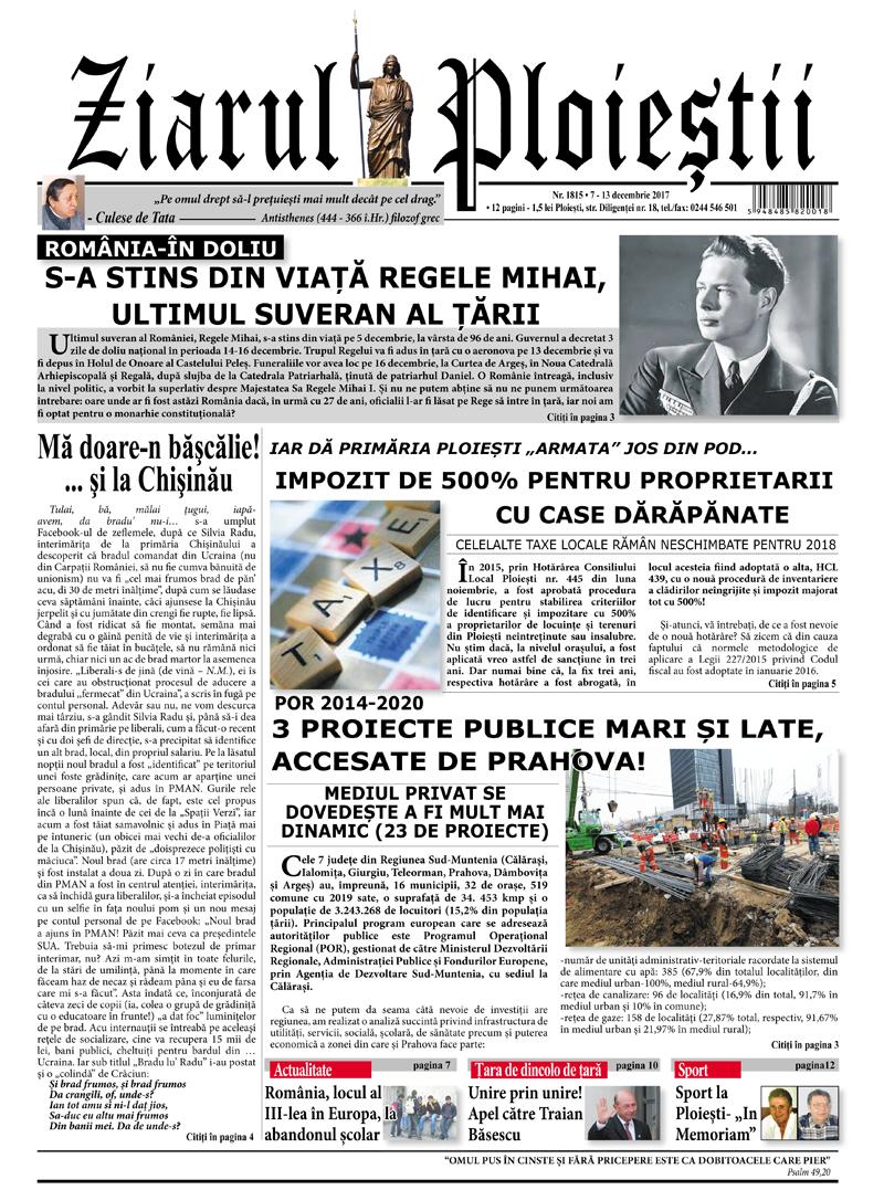 Nr. 1815 • 7-13 decembrie 2017 • 12 pagini