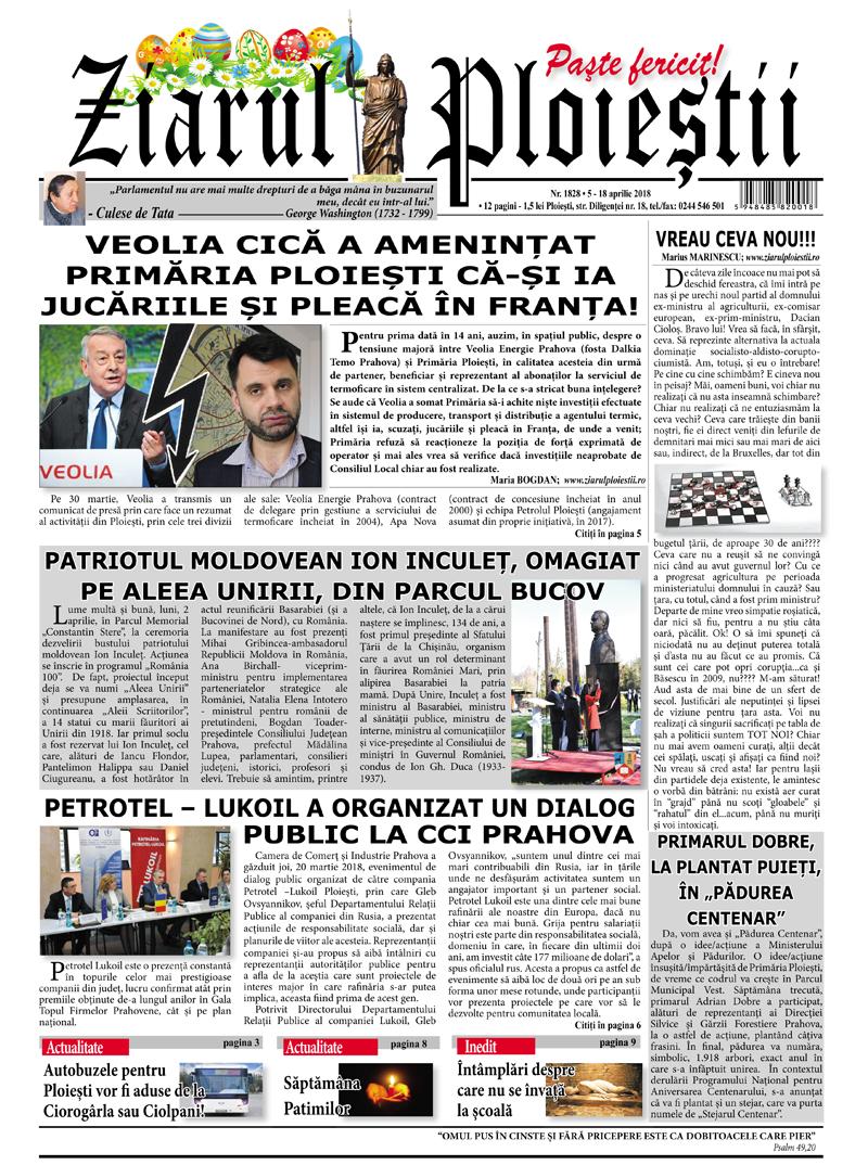 Nr. 1828 • 5 – 18 aprilie 2018 • 12 pagini