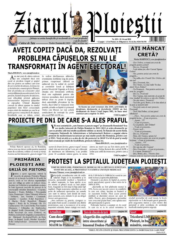 Nr. 1831 • 10-16 mai 2018 • 12 pagini