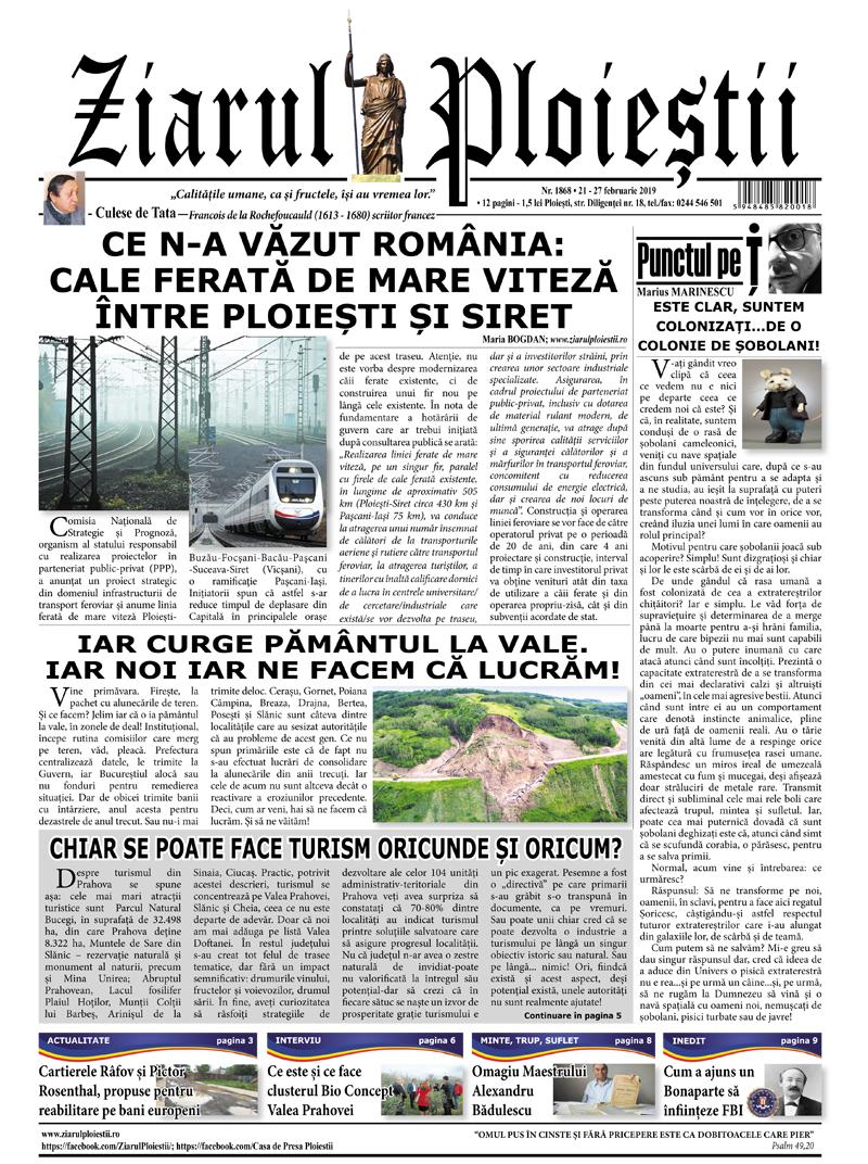 Nr. 1868 • 21 – 27 februarie 2019 • 12 pagini
