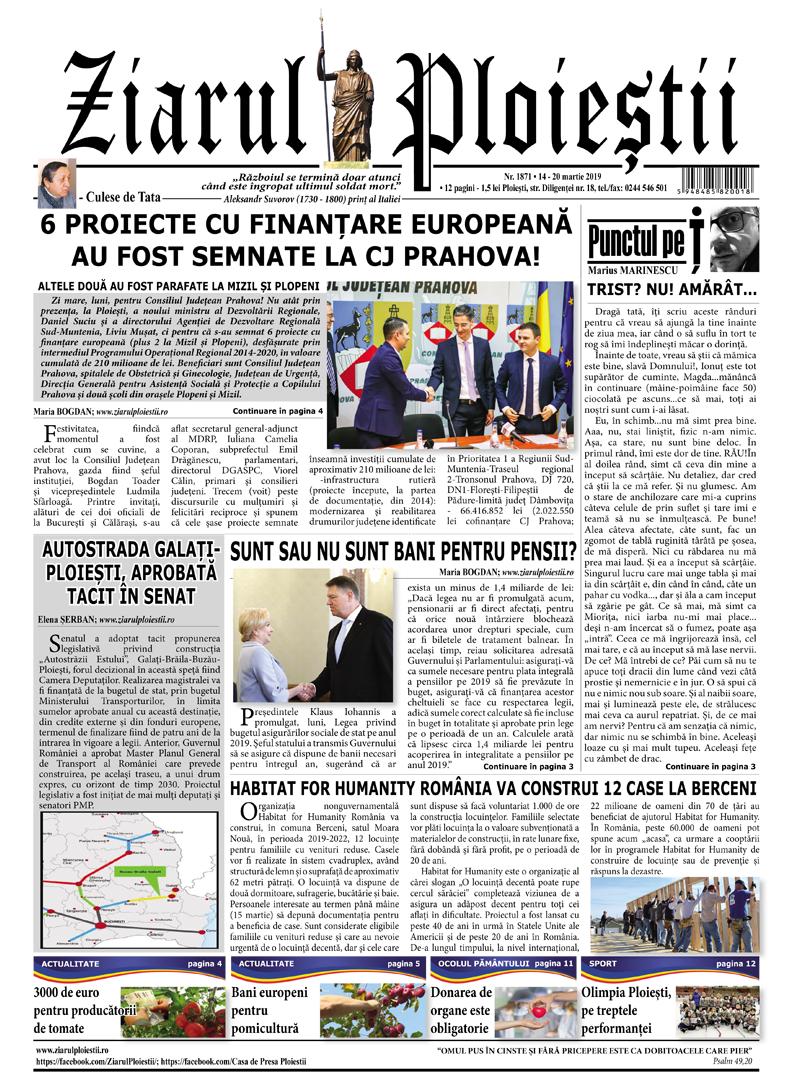 Nr. 1871 • 14-20 martie 2019 • 12 pagini