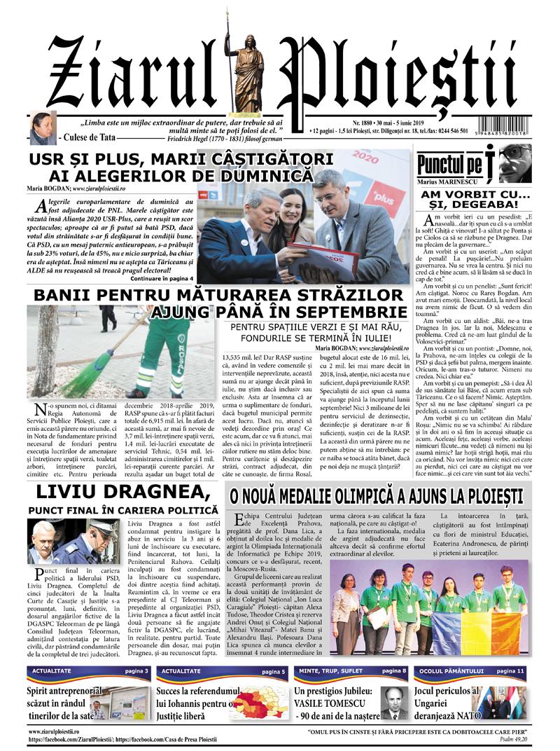 Nr. 1880 • 30 mai – 5 iunie 2019 • 12 pagini