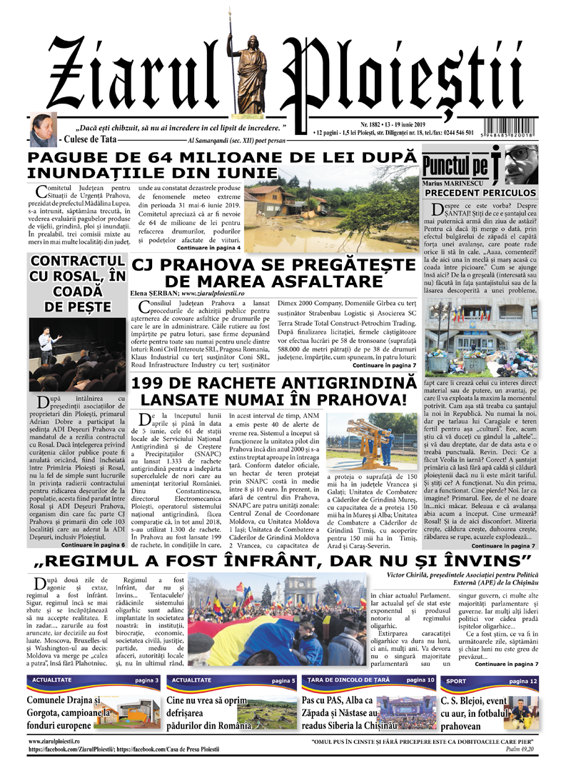 Nr. 1882 • 13 -19 iunie 2019 • 12 pagini