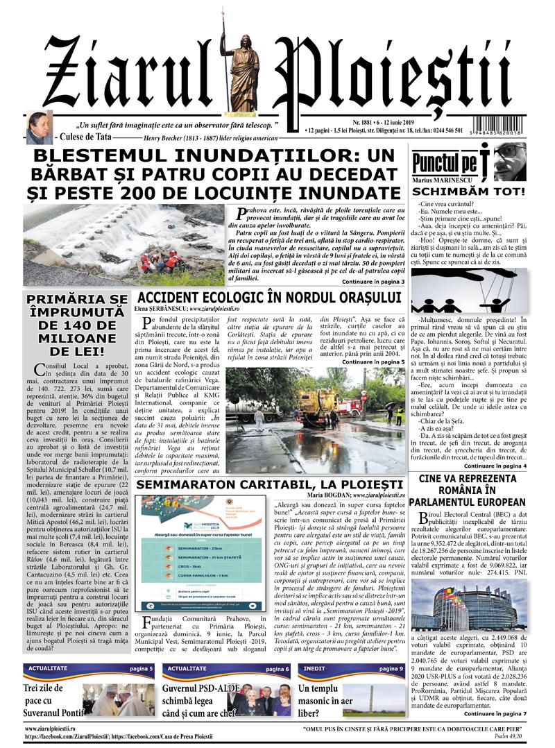 Nr. 1881 • 6 -12 iunie 2019 • 12 pagini