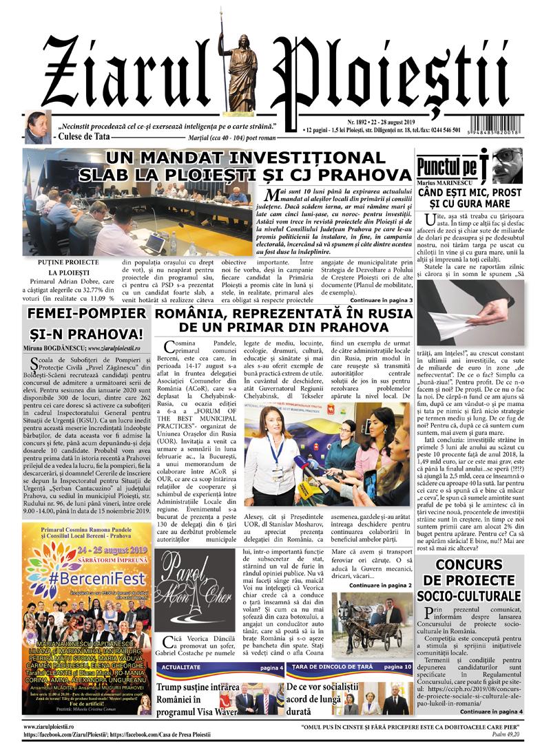 Nr. 1892 • 22 – 28 august 2019