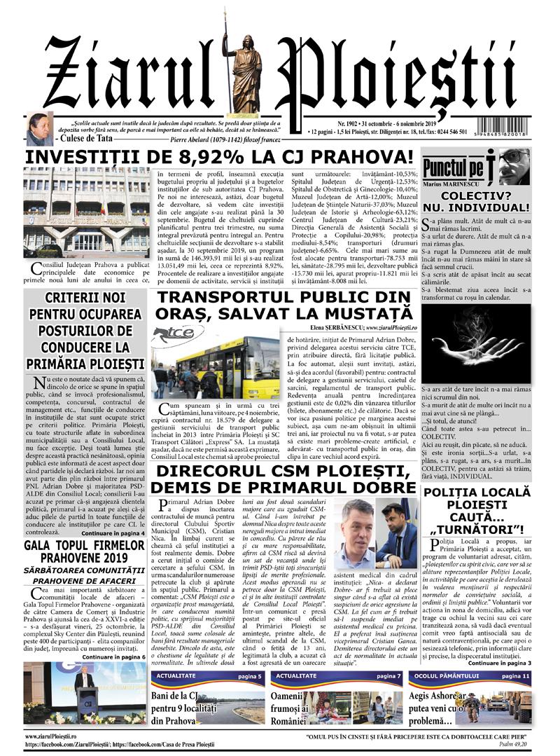Nr. 1902 • 31 octombrie – 6 noiembrie 2019