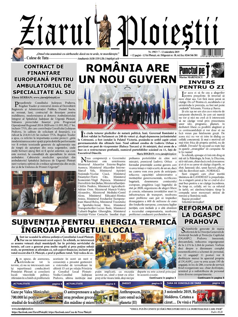 Nr. 1903 •  7 noiembrie – 13 noiembrie 2019