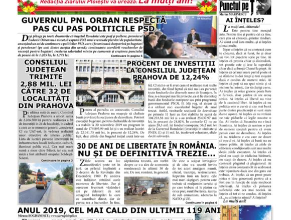 Nr. 1909 • 19 decembrie – 15 ianuarie 2019